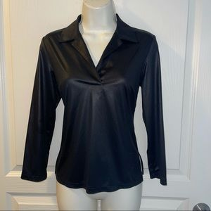 BCBG MaxAzria Imitation Leather Top Size M
